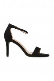Sandale Rammi negre cu toc fin