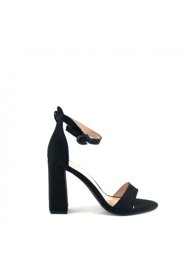 sandale Rammi negre cu toc