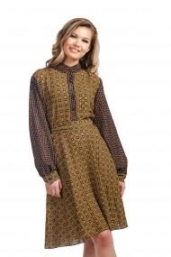 Rochie cu imprimeu din vascoza cu guler tunica Rammi