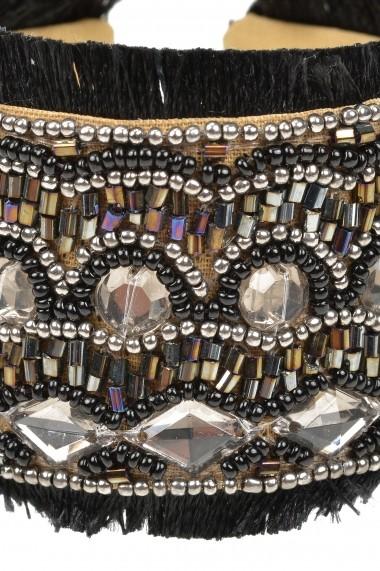 Bratara Borro Design Boho Black Bracelet BRJWP0050 negru