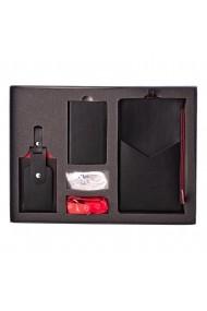 KIT calatorie 4000 e-store portofel calatorie + tag bagaje + baterie externa telefon negru