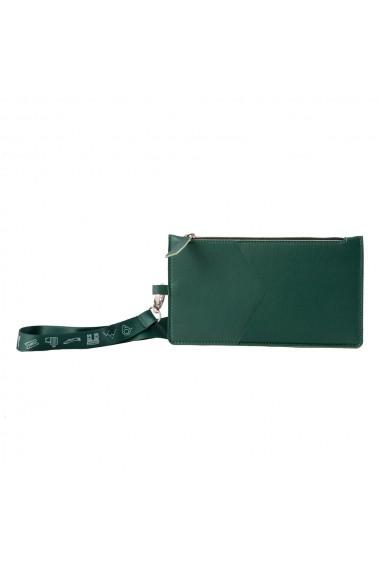 KIT calatorie 4000 e-store portofel calatorie + tag bagaje + baterie externa telefon verde