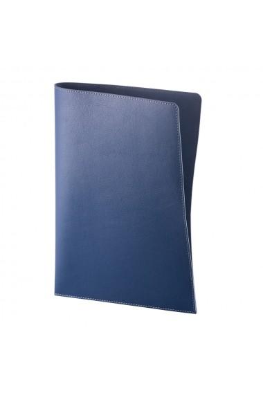 Mapa documente e-store piele ecologica albastru
