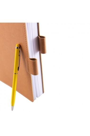 Notes Colored A5 hartie alba liniatura bej