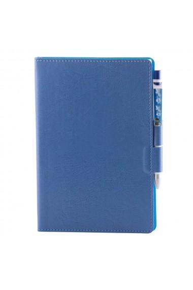 Notes Colored A5 hartie alba liniatura bleu