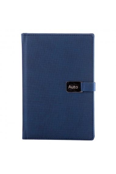 Notes Metal A5 hartie alba liniatura albastru