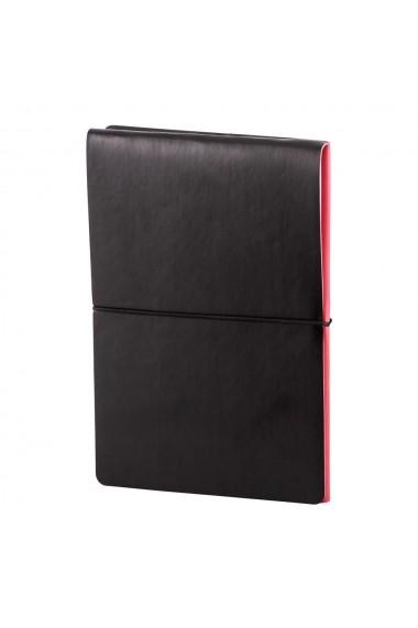 Notes Switch A5 hartie alba liniatura si matematica Rosu/Negru