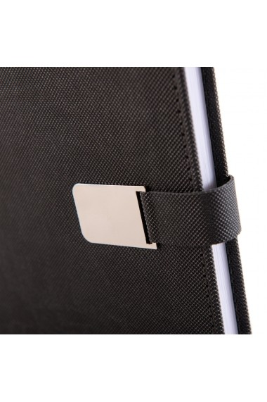 Set Metal notes A5 hartie alba liniatura gri + pix