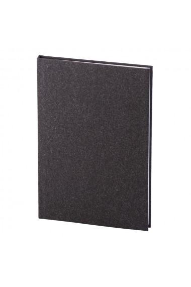 Set Natura notes A5 hartie alba liniatura negru + pix