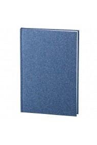 Set Natura notes A5 hartie alba matematica albastru + pix