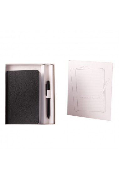 Set Pastel notes 125x20 cm hartie alba velin Negru + pix