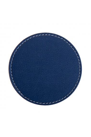 Set suport pahare e-store cusut perimetral albastru