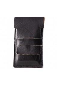 Suport incarcare telefon e-store piele naturala negru