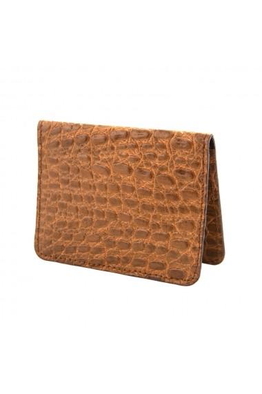 Etui card carti de vizita piele naturala Elite Crocco