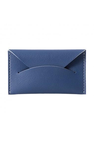 Etui carti de vizita si carduri e-store piele ecologica albastru