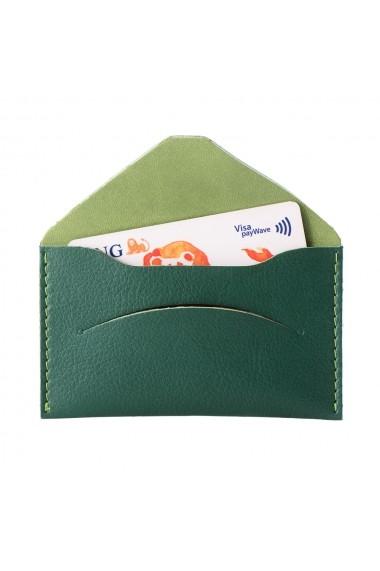Etui carti de vizita si carduri e-store piele ecologica verde