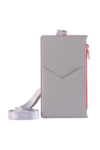 KIT calatorie 8000 e-store portofel calatorie + tag bagaje + baterie externa telefon gri