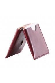 Portcard e-store piele naturala bordo