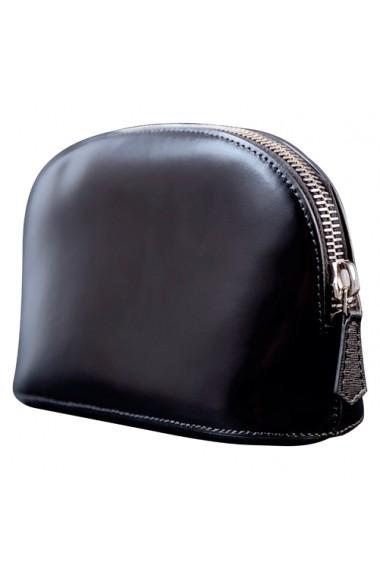 Portfard piele naturala Black negru mat