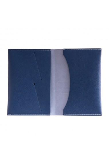 Portpasaport e-store piele ecologica albastru