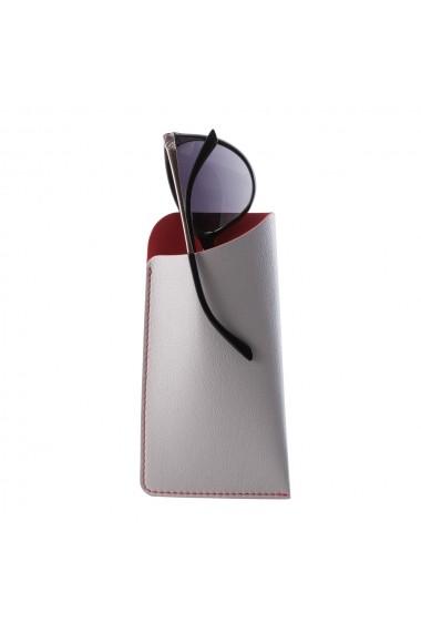 Etui ochelari e-store piele ecologica gri