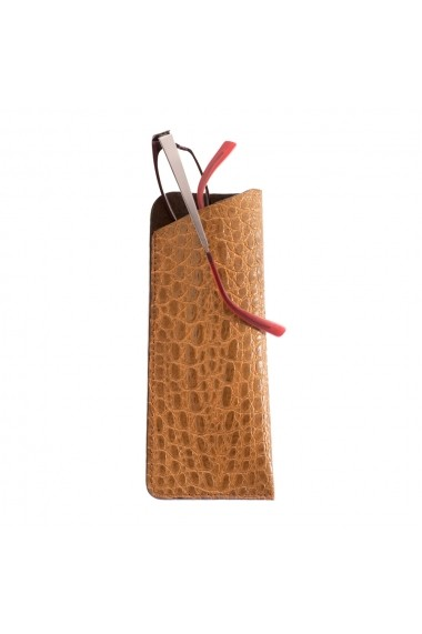 Etui ochelari piele naturala Vintage Crocco