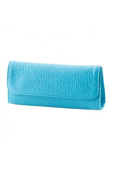 Etui piele naturala Ochelari cu magnet B Turquoise