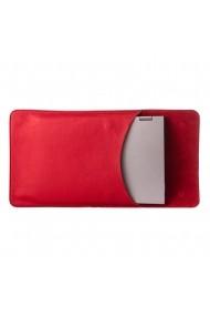 Husa laptop cu mouse pad e-store piele naturala rosu