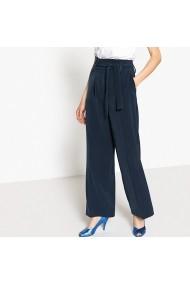 Pantaloni largi Vila GEL046 bleumarin - els