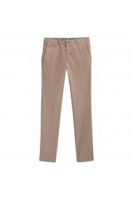 Pantaloni BENETTON GHE241 gri-bej