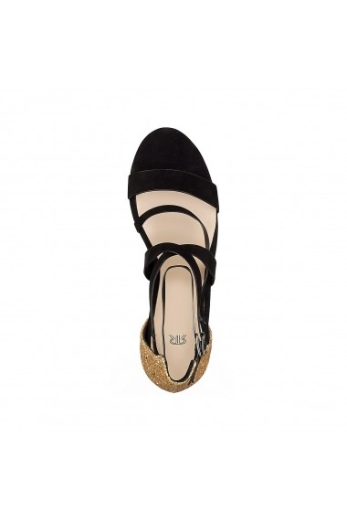 Sandale cu toc MADEMOISELLE R GEG351-black-gold-coloured Negru