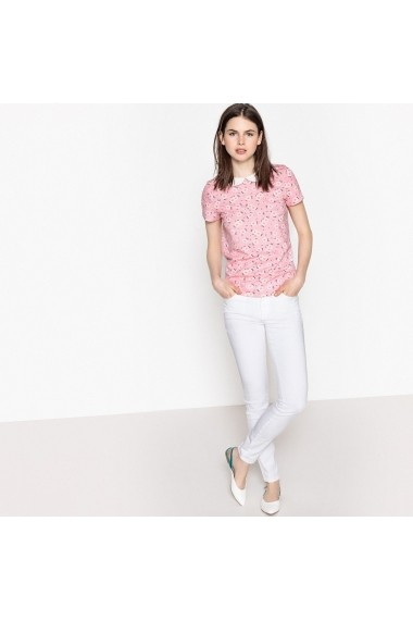 Tricou MADEMOISELLE R GES836-floral_print_on_beige_background Floral