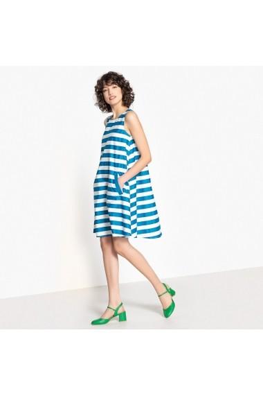Rochie de zi MADEMOISELLE R GEE479-blue-white Albastru - els