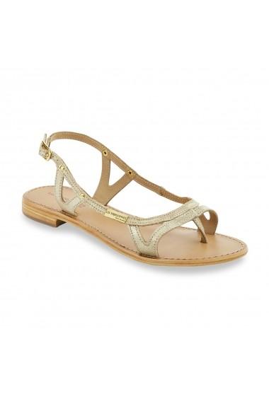 Sandale plate LES TROPEZIENNES par M BELARBI GBC362 auriu