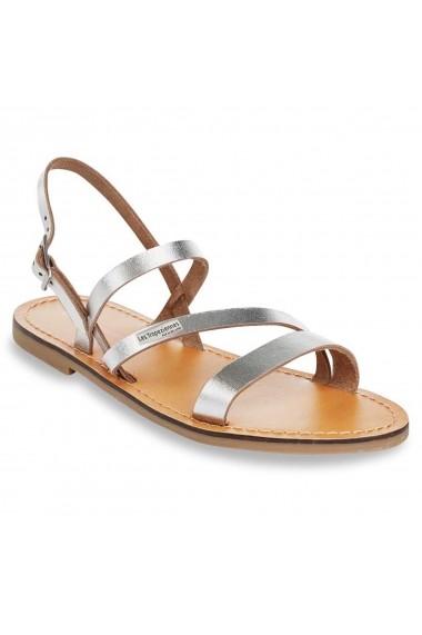 Sandale plate LES TROPEZIENNES par M BELARBI GCW137 argintiu - els