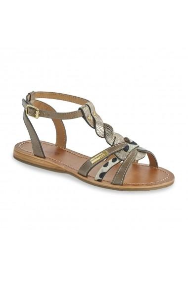 Sandale plate LES TROPEZIENNES par M BELARBI GCX655 gri-bej