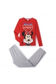 Pijama MINNIE MOUSE GCT713-striped_red-grey_marl Rosu