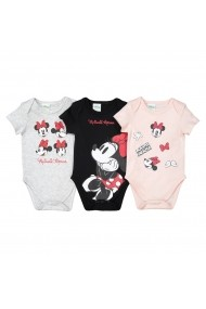 Set 3 body-uri MINNIE MOUSE GEM881-grey-pink-black Multicolor