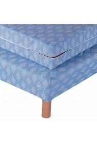 Protectie pat La Redoute Interieurs AKE715 120x190 cm albastru