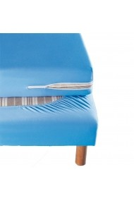 Protectie saltea La Redoute Interieurs GBY158 140x190 cm albastru
