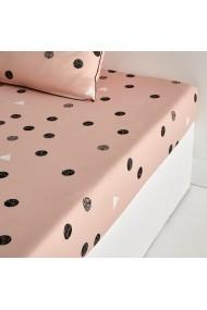 Cearsaf La Redoute Interieurs GBX246 160x200 cm roz