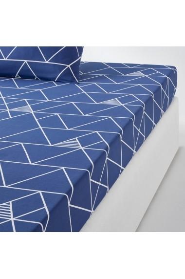 Cearsaf La Redoute Interieurs GCH819 90x190 cm albastru