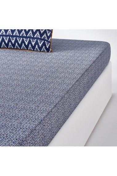 Cearsaf La Redoute Interieurs GCK758 90x190 cm albastru