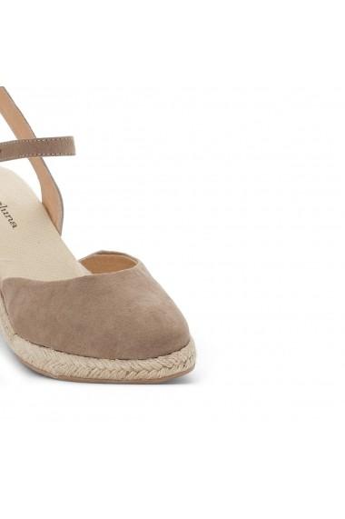 Pantofi cu toc CASTALUNA GEU845 gri-bej