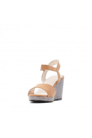Sandale cu platforma CASTALUNA GFY971 Camel - els