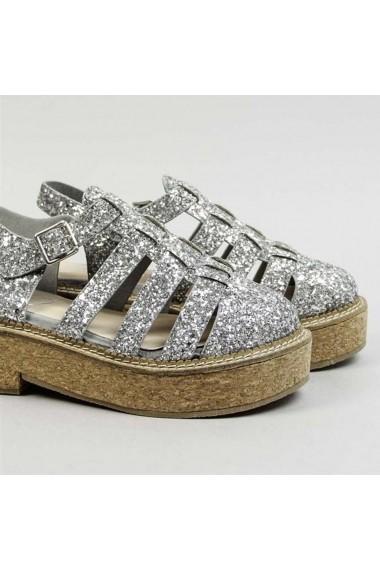 Sandale cu toc COOLWAY GFJ011 argintiu