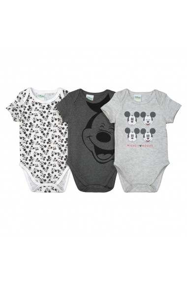 Set 3 body-uri MICKEY MOUSE GEM877-grey-black Gri