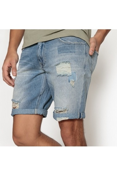 Pantaloni scurti La Redoute Collections GET369 albastru