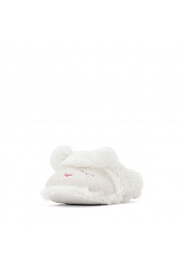 Papuci de casa La Redoute Collections GFO093 alb