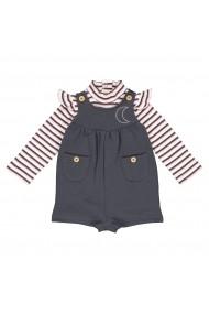Set bluza si salopeta La Redoute Collections GGN256 alb